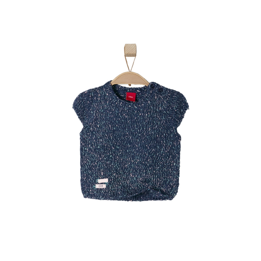 s.OLIVER Girls Mini Strickpullover dark blue