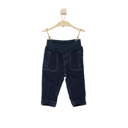 s.OLIVER Boys Mini Spodnie dżinsowe blue denim stretch