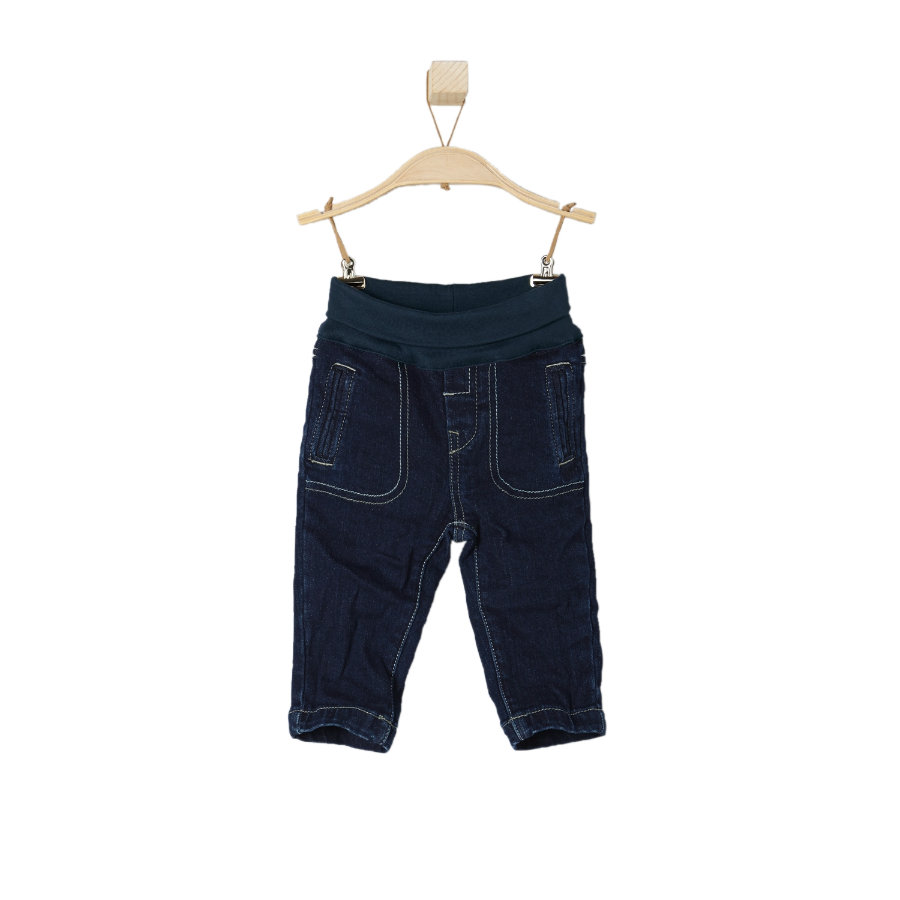 s.OLIVER Boys Mini-jeans blauw denim stretch