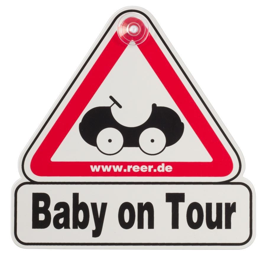 REER Signalétique ventouse voiture Baby on Tour
