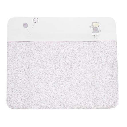 Alvi Wickelauflage und Bezug Cats rosa 70x85 cm