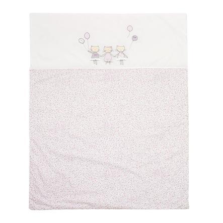 """ALVI Coperta per gattonare """"Gattini"""" rosa 100x135 cm"""