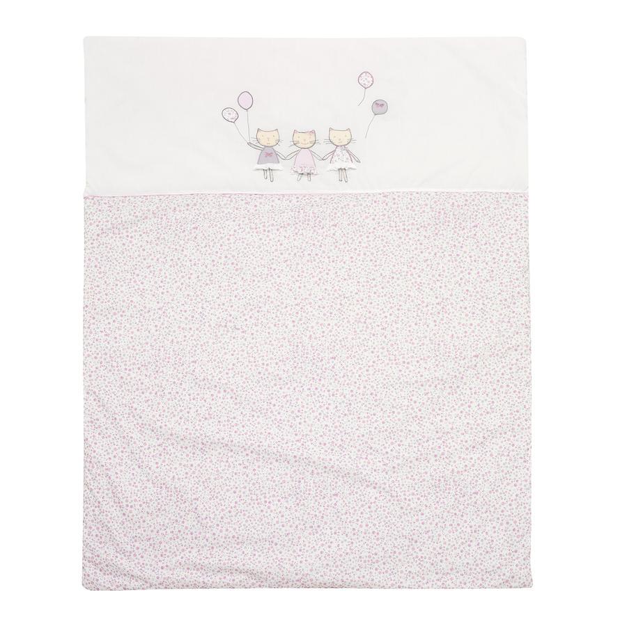 ALVI Couverture d'éveil Chats, rose, 100 x 135 cm