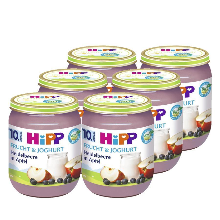 HIPP Bio Frucht & Joghurt Heidelbeere in Apfel 6 x 160g