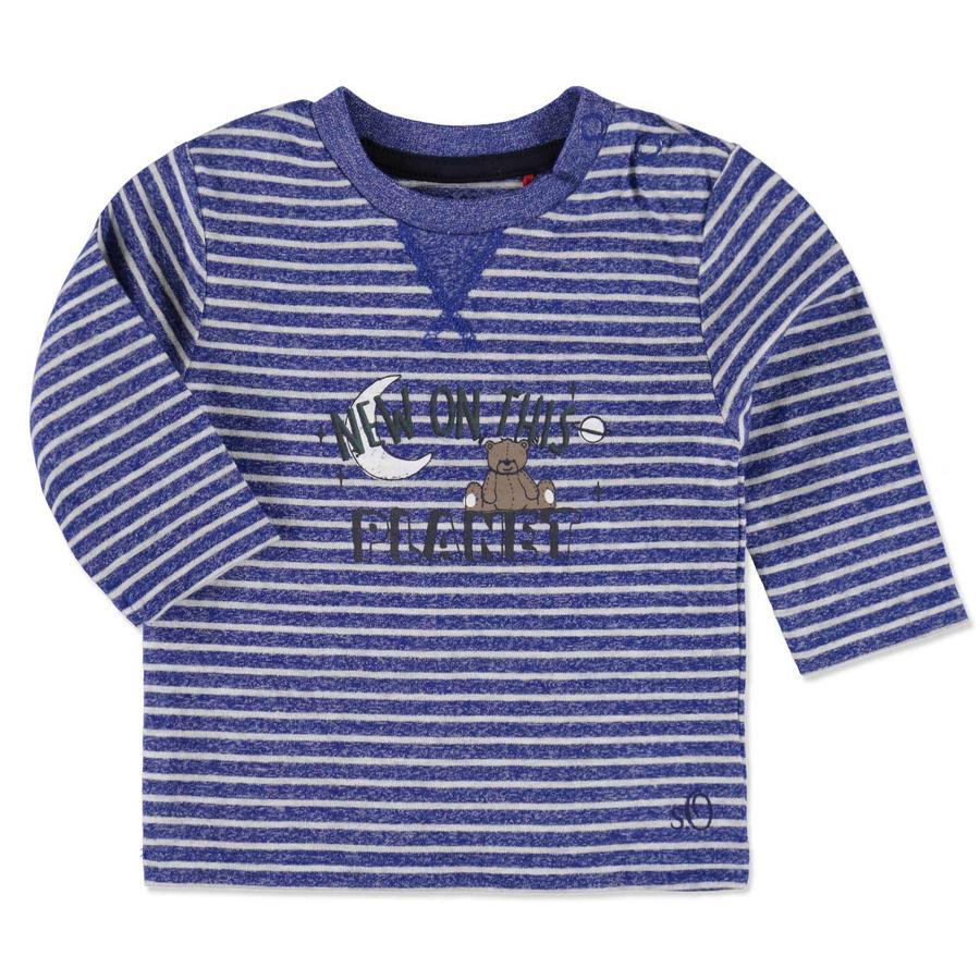 s.OLIVER Boys Baby Bluzka z długim rękawem blue stripes