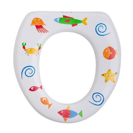 ROTHO Réducteur de toilettes souple, sans poignées, Seaworld, blanc