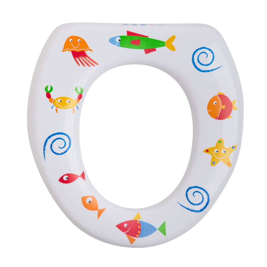 Rotho Babydesign Soft WC-Sitz ohne Griffe Motiv Seaworld weiß