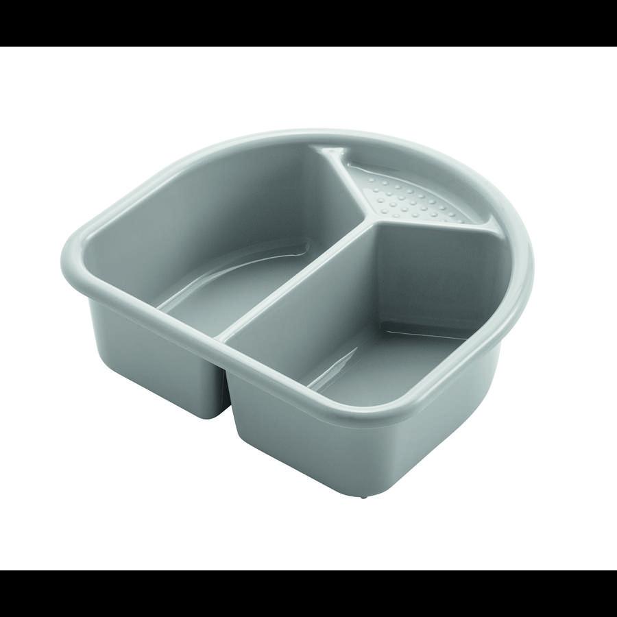 Rotho Babydesign Waschschüssel TOP in silber grau