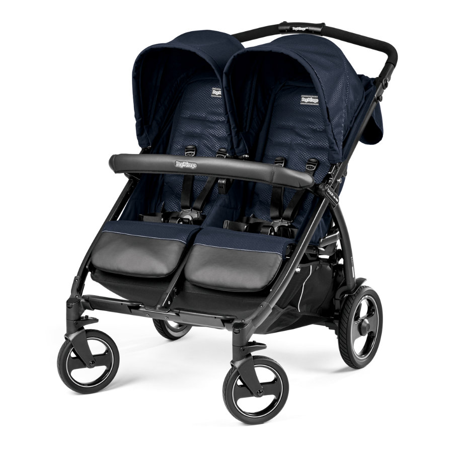 PEG-PEREGO Tvillingvagn Book For Two Mod Navy