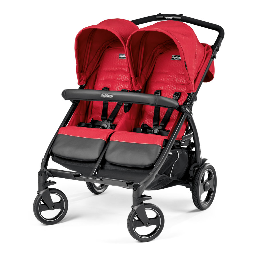 PEG-PEREGO Tvillingvagn Book For Two Mod Red