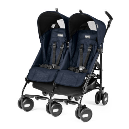 PEG PEREGO Poussette double Pliko Mini Twin Mod Navy