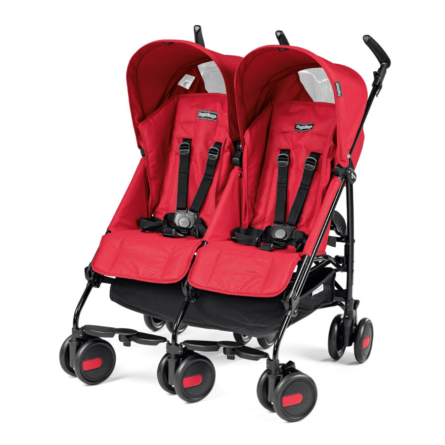 PEG-PEREGO Tvillingvagn Pliko Mini Twin Mod Red