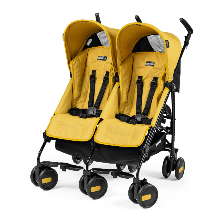 PEG PEREGO Poussette double Pliko Mini Twin Mod Yellow