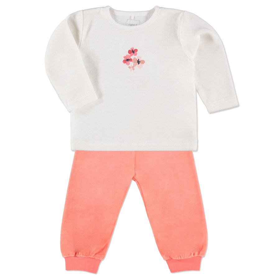 NAME IT Girls Mini Schlafanzug 2-teilig NITVELIN cloud dancer