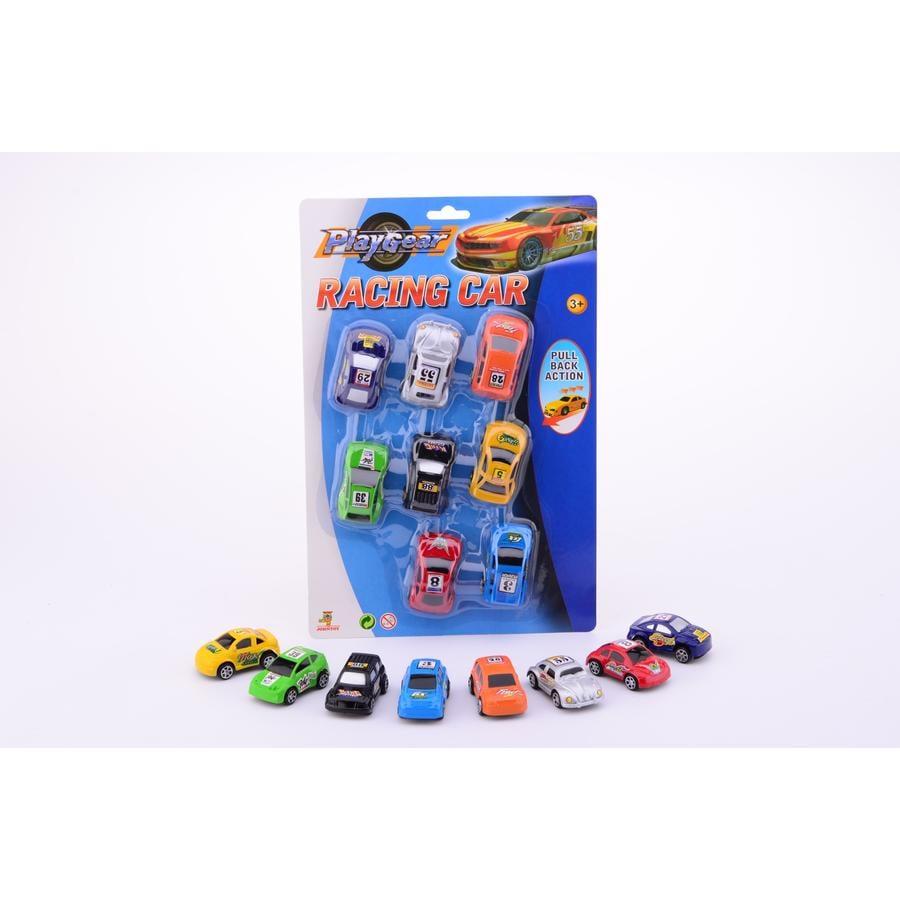 JOHNTOY Boys - Play Gear Samochody wyścigowe 8 szt.