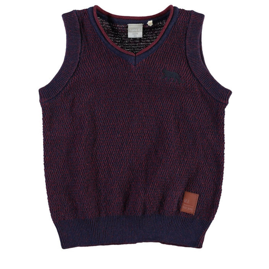 NAME IT Boys Mini Kamizelka NITPOTTERSON oxblood red