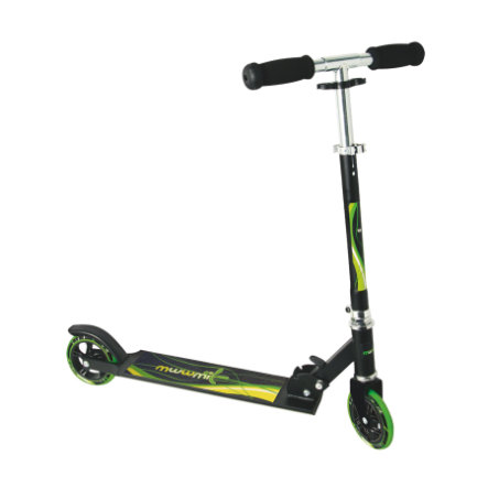 AUTHENTIC SPORTS Aluminium Step Scooter Muuwmi ST, zwart-groen 125 mm