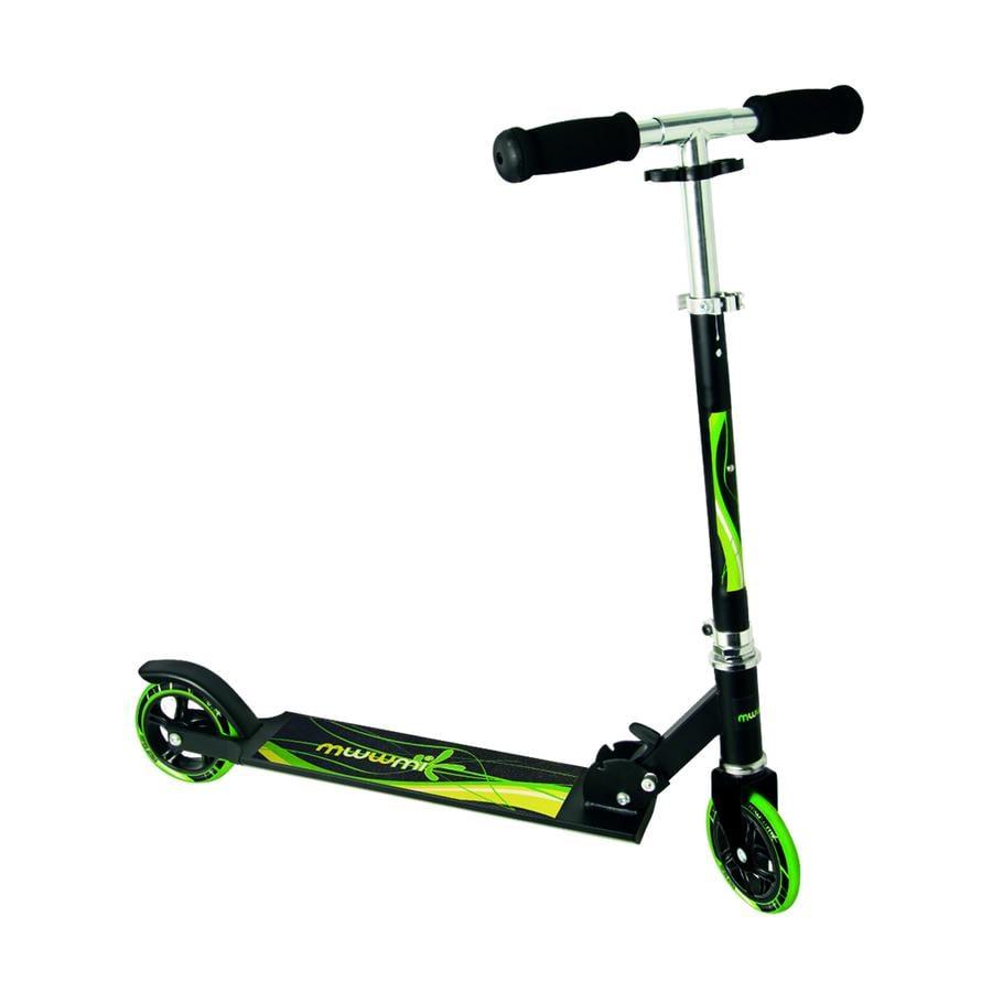AUTHENTIC SPORTS Aluminium Step Scooter Muuwmi ST, zwart-groen 125 mm