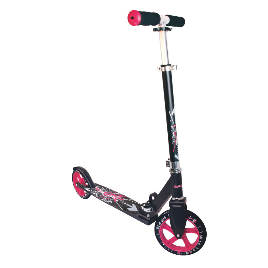 AUTHENTIC SPORTS Aluminium Scooter Muuwmi STG 205 mm, schwarz-pink