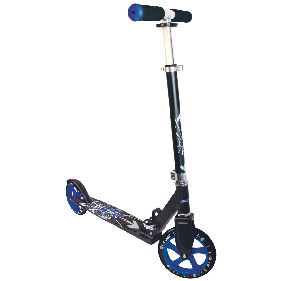 AUTHENTIC SPORTS Aluminium Scooter Muuwmi STG 205 mm schwarz-blau