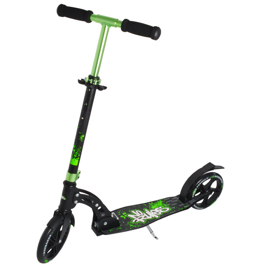 AUTHENTIC SPORTS Aluminium Step Scooter No Rules 205mm, zwart-groen