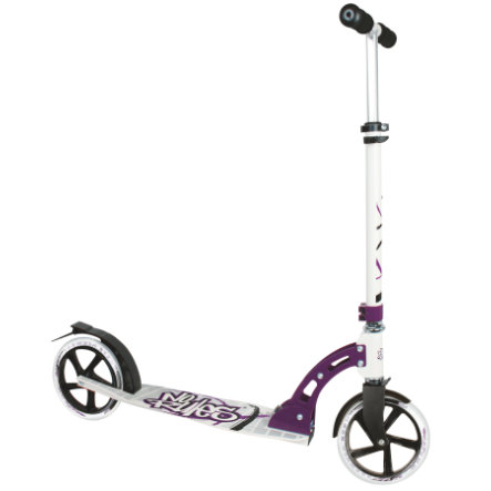 AUTHENTIC SPORTS Aluminium Step Scooter No Rules 205mm, zwart-wit-lila