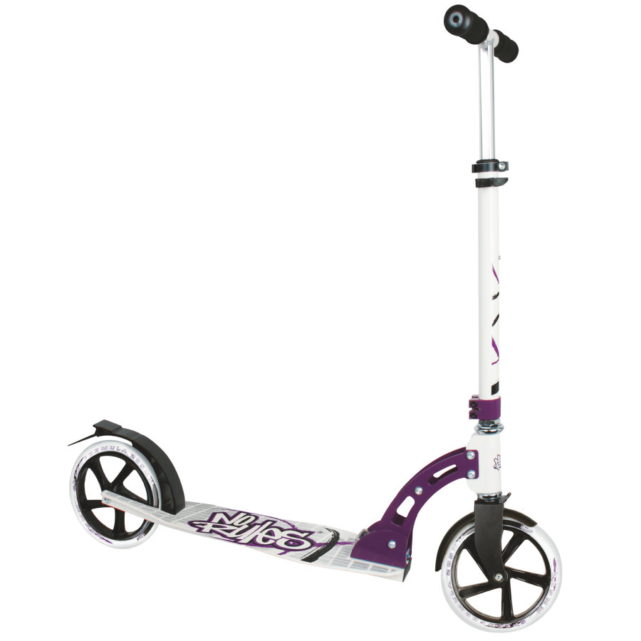 AUTHENTIC SPORTS Aluminium Scooter No Rules 205 mm, schwarz-weiß-lila