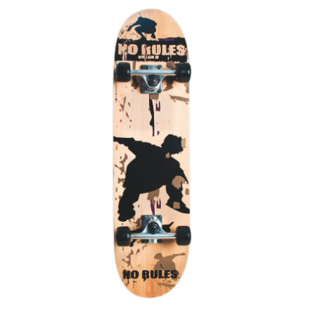 AUTHENTIC SPORTS Skateboard No Rules, Abec 5, mit Rucksack