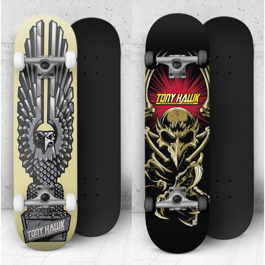 AUTHENTIC SPORTS Tony Hawk Skateboard, Assorti Design Bannerholder en Monument