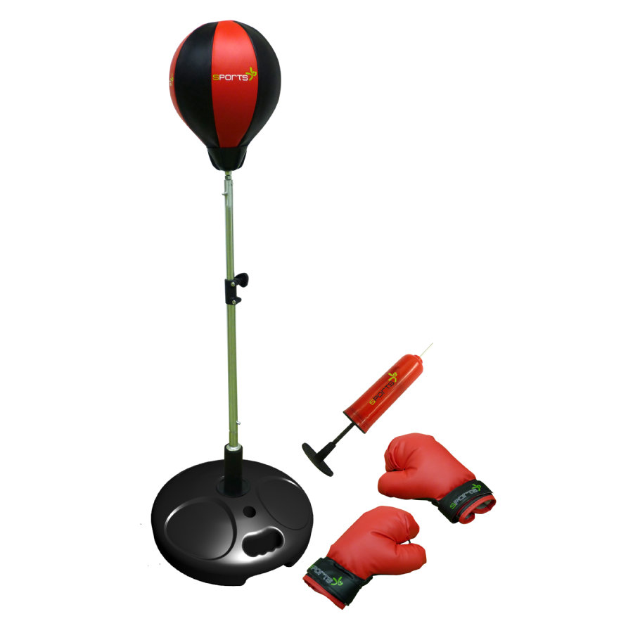 AUTHENTIC SPORTS Punchingball mit Boxhandschuhen und Pumpe