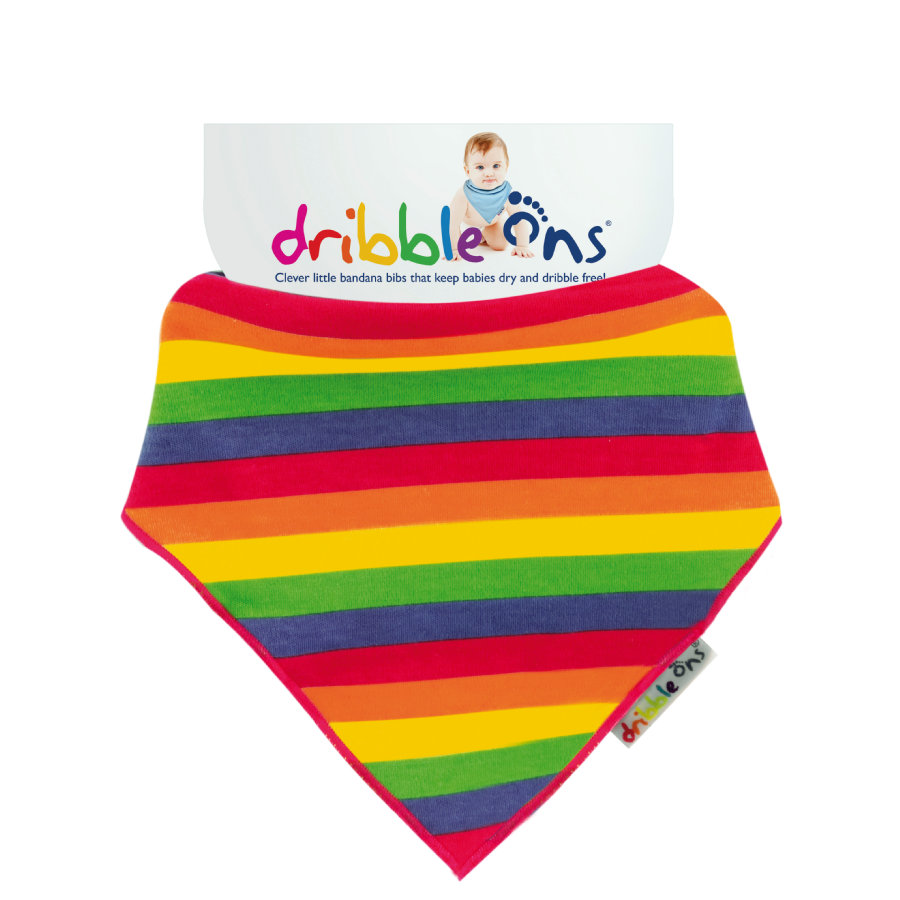 DRIBBLE ONS Šátek Rainbow Stripe