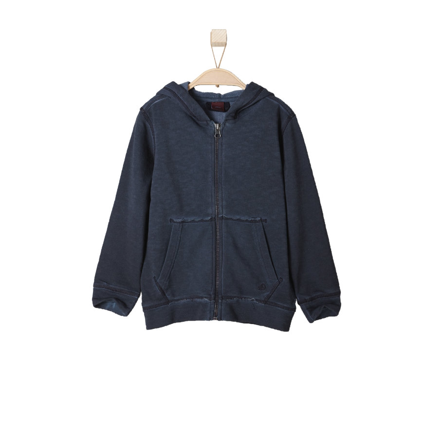 s.OLIVER Boys Mini Sweat Jacket azul oscuro