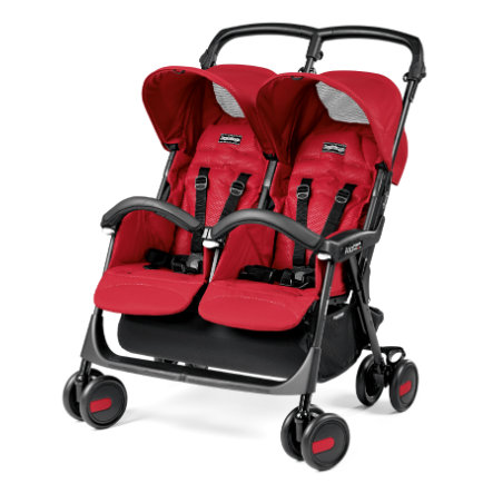 PEG PEREGO Poussette double Aria Twin Mod Red