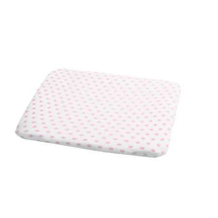 ODENWÄLDER Potah na přebalovací podložku puntíky růžový