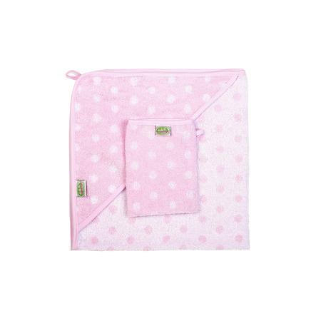 ODENWÄLDER Badhandduk och tvättlapp, rosa