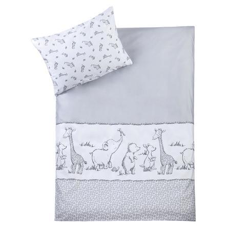 JULIUS ZÖLLNER Parure de lit enfant safari blanc/gris 100x135 cm