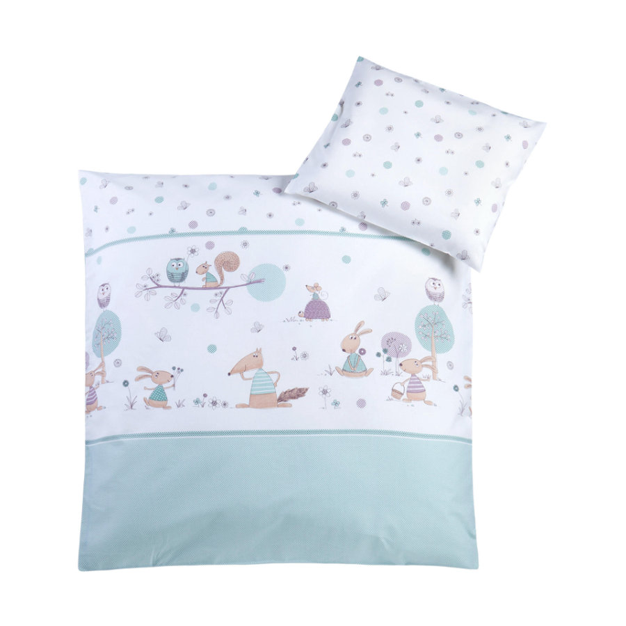 JULIUS ZÖLLNER Ropa de cama 80/80cm happy animal s mint