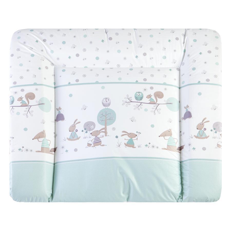 julius z llner wickelauflage softy 75 85 cm happy animals mint. Black Bedroom Furniture Sets. Home Design Ideas