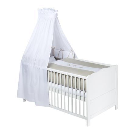 JULIUS ZÖLLNER zestaw łóżkowy 3 szt. 100/135 cm + 40/60 cm taupe gwiazda godzina