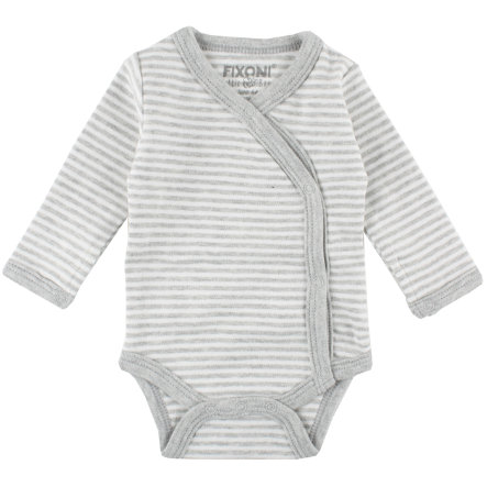 FIXONI Frühchen Wickelbody light grey