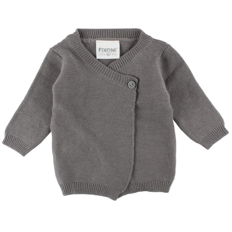FIXONI Boys Striktrøje til for tidligt fødte grey