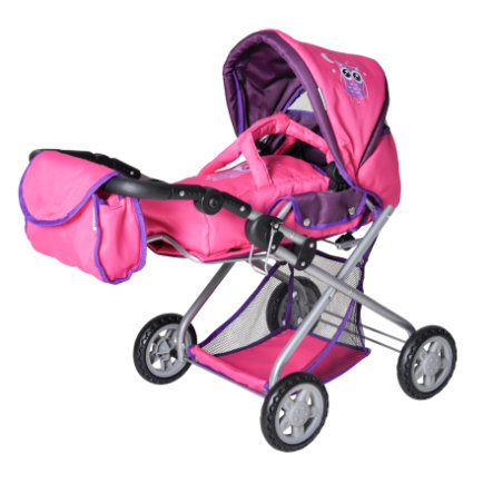 knorr® toys Poppenwagen combi Kyra - pink owl