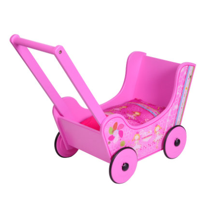KNORRTOYS Passeggino bambola in legno - My little Princess, Walky pink