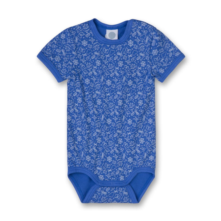 SANETTA Boys Romper 1/4 Arm blue