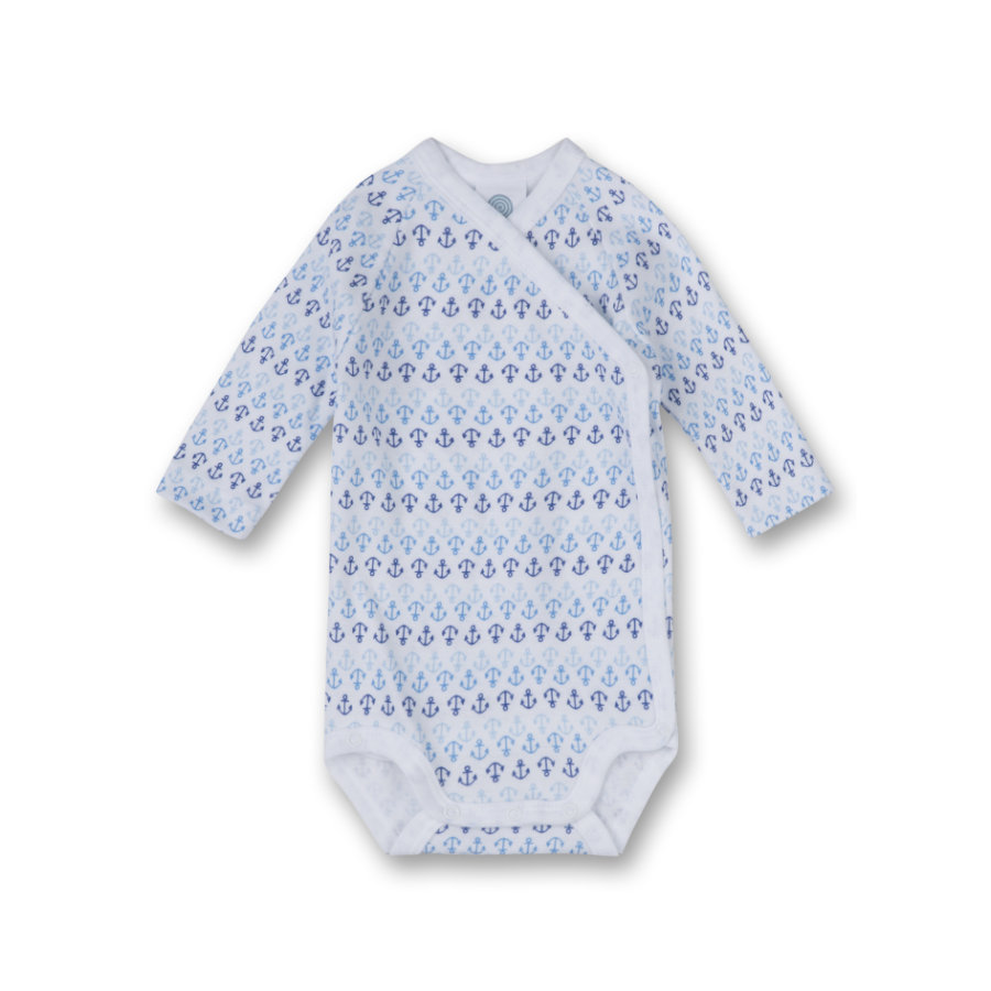 SANETTA Boys Wickelbody 1/1 Arm white