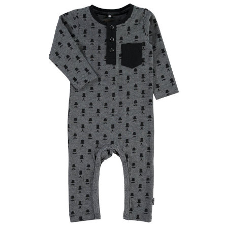 NAME IT Boys Baby Overall NITPEAT dark grey melange