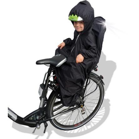 SUNNYBABY Mantellina parapioggia per seggiolino bici con maniche, nero