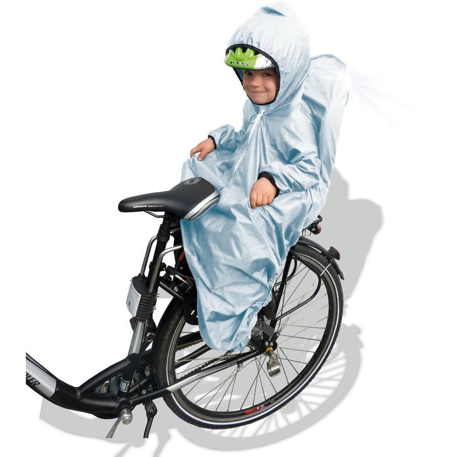 SUNNYBABY Cape de pluie pour siège de vélo enfant, avec manches, gris
