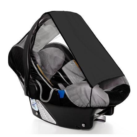 SUNNYBABY Vela ombreggiante per seggiolino auto con zanzariera, nero