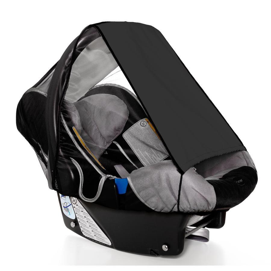 SUNNYBABY Solskydd med insektsnät för babyskydd, svart
